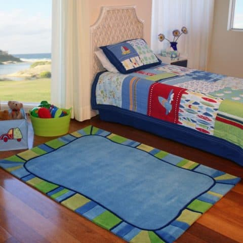 Blue rugs for kids rooms