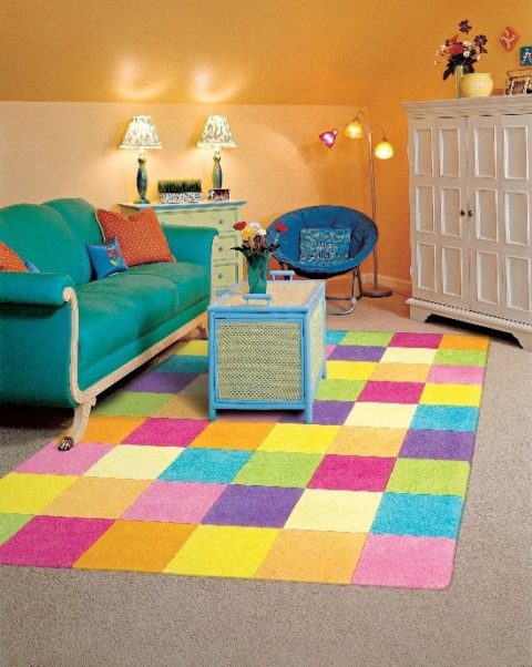 Colorful rugs for kids rooms