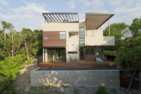 Contemporary cube house design