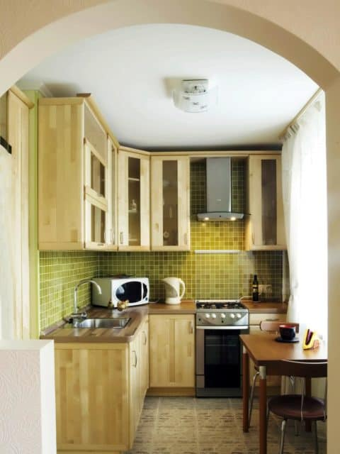 Corner small kitchen ideas