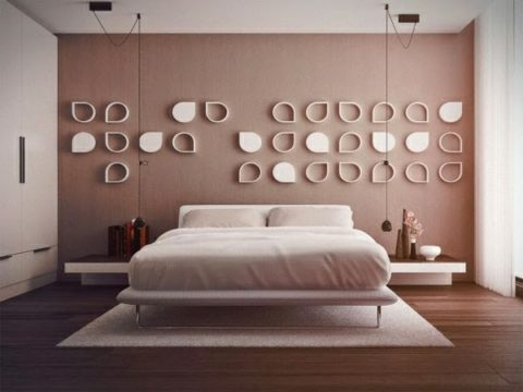 Elegant bedroom wall decor