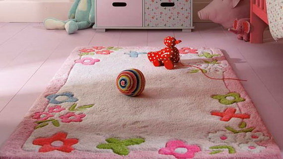 Flower rugs for kids rooms