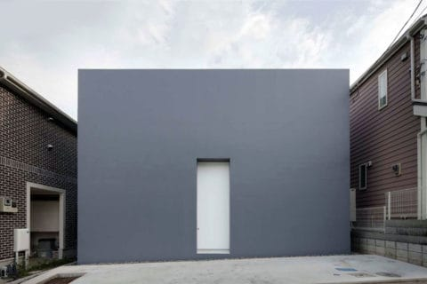 Grey cube house design