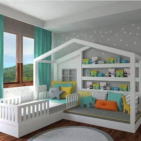 Kids room ideas in grey theme