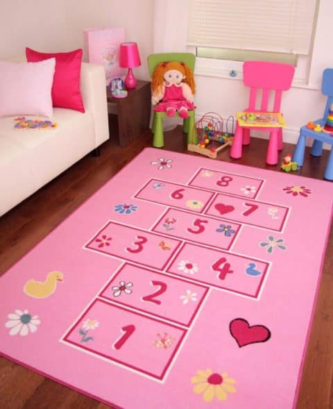 Pinky rugs for kids rooms