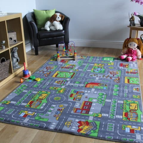 Playful rugs for kids rooms