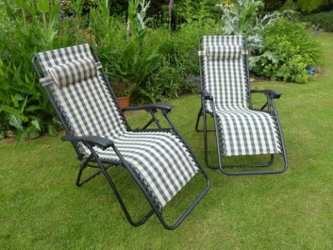 Simple outdoor chairs and loungers
