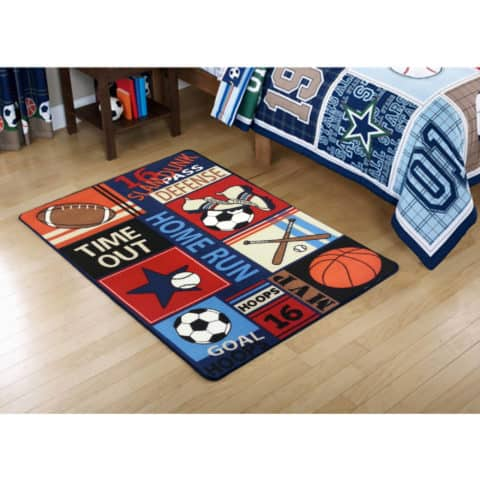 Sports rugs for kids rooms