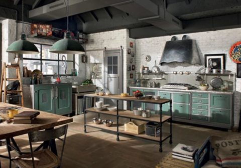 The real industrial kitchen