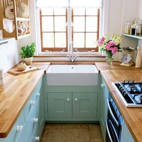 U shaped small kitchen ideas