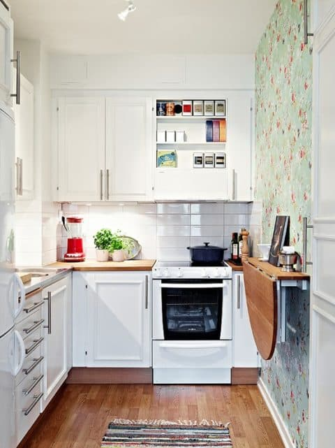 Wallpaper for small kitchen ideas