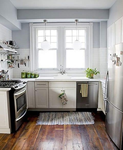 White grey small kitchen ideas