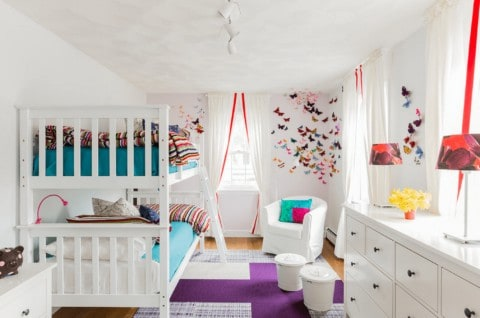 White kids room ideas