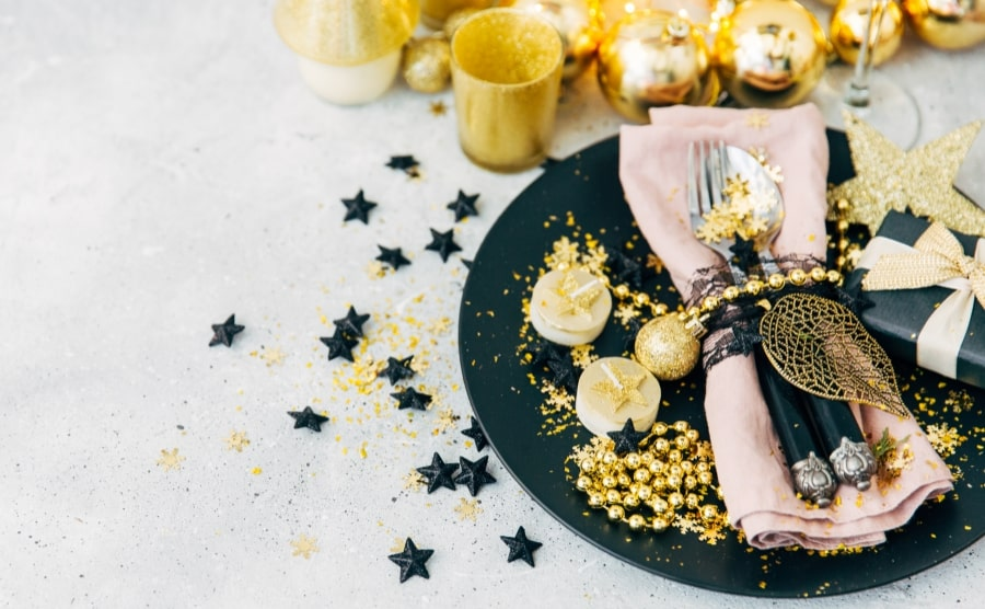 New Years table decorations ideas